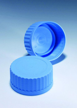PYREX Spare Screw Cap Lids, Blue Polypropylene, GL45