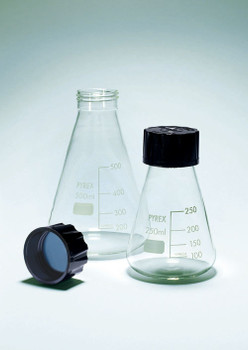 PYREX Erlenmeyer Flask with Screw Cap, 500ml