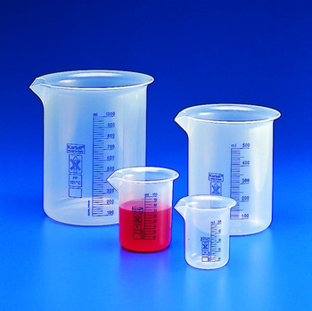 Blue Graduated Low Form Beaker, 5000ml, Polypropylene