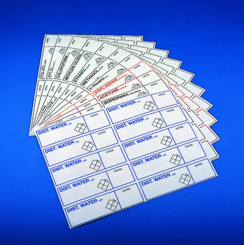 Safety ID Labels, Ethylacetate (10 Stickers)