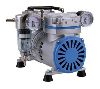 Vacuum/Pressure Pump Dual, 28 L/min, Ultimate Vacuum: 173mbar (With 1m Silicone Vacuum Tubing)