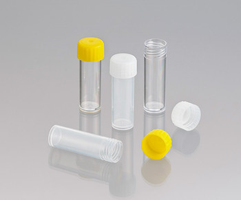 Screw Cap Test Tubes, Polypropylene, Flat Bottom, Labelled, Sterile, 5ml