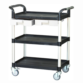Lab Trolley, 2 Drawers, 3 Shelves