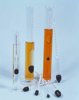 Specific Gravity Hydrometer 1.000-1.050 M50 x 0.001 ± 0.001 @ 15.6°C, 260mm long ISO650