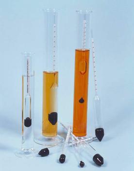 Density Hydrometer 0.600-0.700 M100 x 0.002g/ml ± 0.002 @ 20°C 250mm long BS718, ISO649