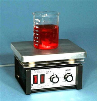 Economy Hotplate Magnetic Stirrer, 200x180mm Plate With 500ml Beaker and Stirring Bar