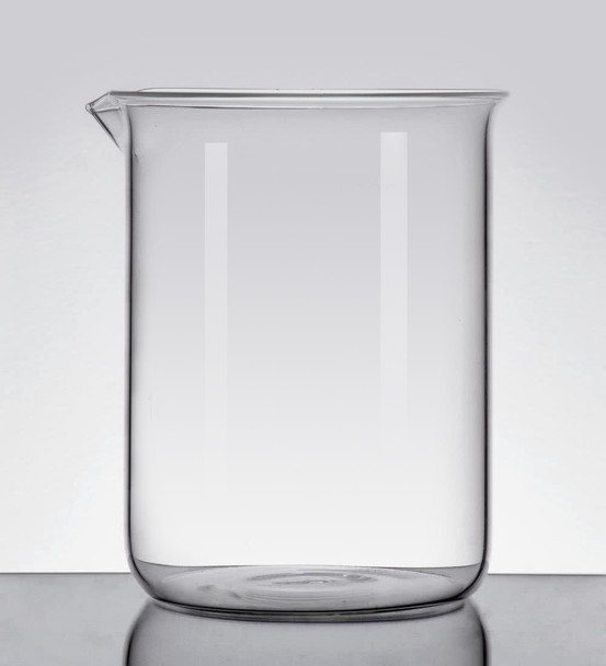 Quartz High Temperature Beaker, Low Form, 600ml