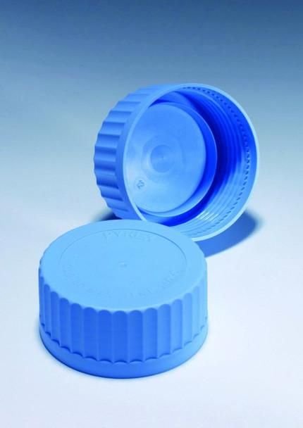 PYREX Spare Screw Cap Lids, Blue Polypropylene, GL45