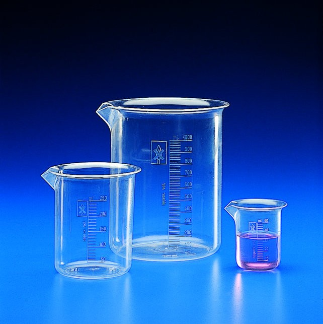 Plastic Beakers And Cylinders Tpx Or Polypropylene