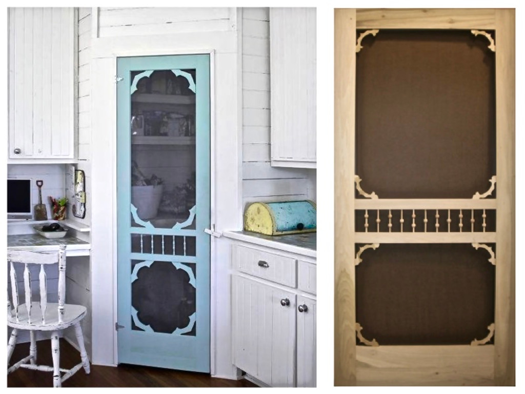 Country Chic Ways to Use a Montana Screen Door