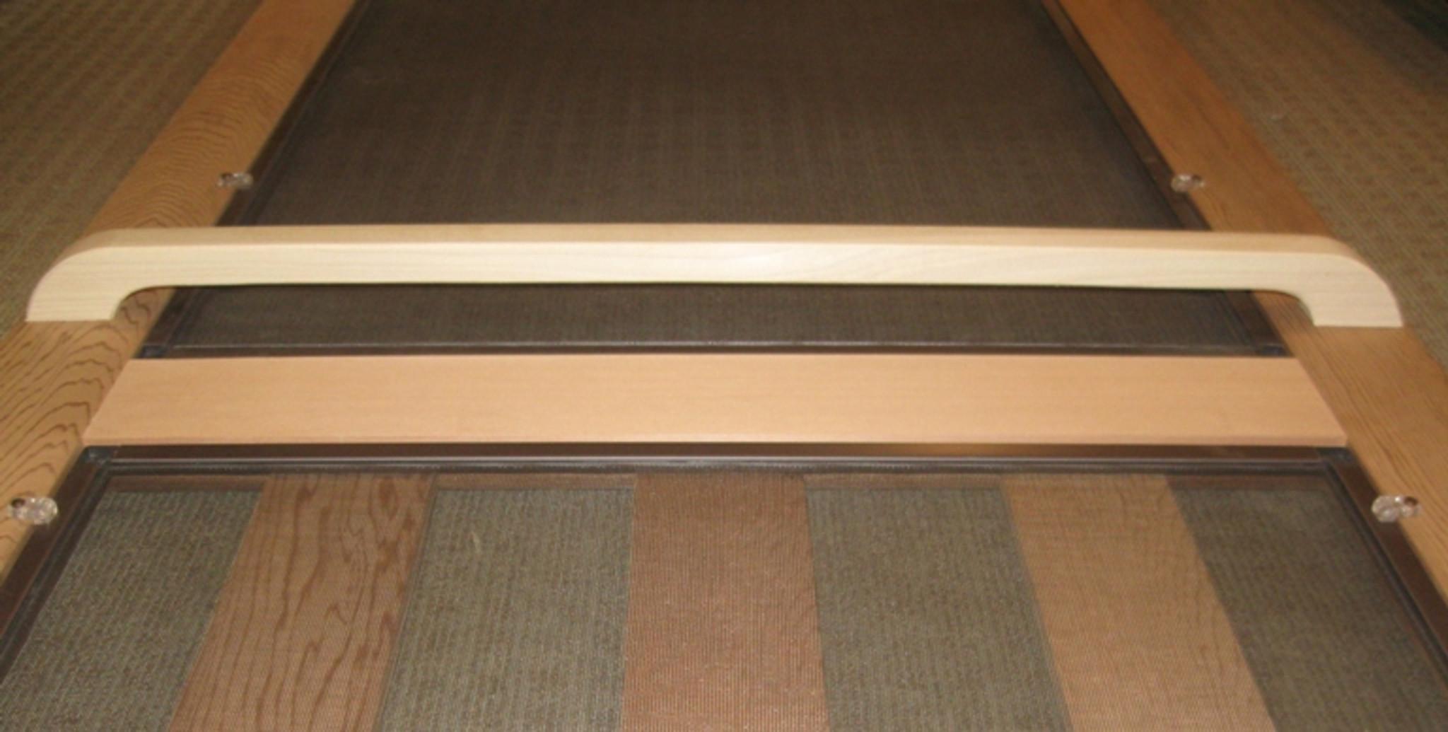 Wood push bar custom screen door hardware