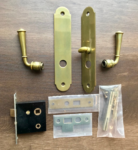 Plateau Mortise Arch Lockset - New (Patina Finish)