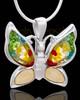 Urn Pendant Sterling Silver Lavish Butterfly Keepsake