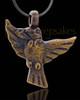 Ash Pendant Brass Bird of Night Keepsake