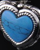 Cremation Heart Sterling Silver Turquoise Pendant