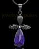 Black Plated Angelic Symphony Cremation Urn Pendant