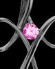 Black Plated and Pink Forever in My Heart Keepsake Jewelry