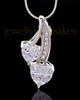 Sterling Silver Treasures of the Heart Cremation Urn Pendant