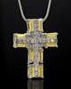 Silver Plated Sunburst Cross Cremation Urn Pendant