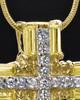 Gold Plated Sunburst Cross Cremation Urn Pendant