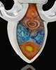 Silver Plated Festive Fleur De Lis Cremation Urn Pendant