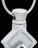 Silver Plated White Cleverness Cremation Urn Pendant