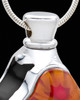 Black Harmonious Glass Cross Cremation Urn Pendant