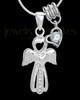 Sterling Silver April Heavenly Attendant Cremation Urn Pendant