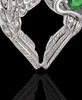 May Winged Memories' Sterling Silver Heart Cremation Pendant