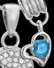 Sterling Silver December Soaring Spirit Cremation Urn Pendant