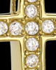 Gold Plated Saintly Cross Cremation Urn Pendant