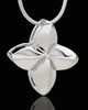 Silver Plated Affable Cremation Urn Pendant
