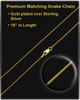 Gold Plated Envious Cremation Necklace