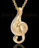 14k Gold Music to My Heart Cremation Necklace