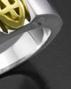 Sterling Silver Women's Devout Cremation Ring