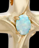 Wavy Cross with Opal Keepsake Gold Plated