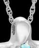 Sterling Silver Wavy Cross with Opal Keepsake