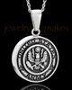 Stainless Military Medallion-Army Urn Pendant