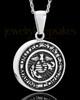 Stainless Military Medallion-Marines Urn Pendant