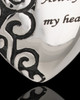 Stainless Decorative Heart Urn Pendant