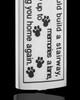 Stainless Steel Sentimental Cylinder Pet Urn Pendant With Chain