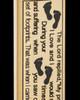 Gold Plated Footprints Cylinder Urn Pendant