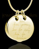 Gold Plated Ambition Cremation Urn Pendant