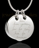 Sterling Silver Ambition Cremation Urn Pendant