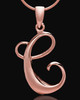 "Rose Gold Plated ""C"" Keepsake Jewelry"