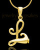 "Gold Plated ""L"" Keepsake Jewelry"