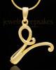 "Gold Plated ""V"" Keepsake Jewelry"