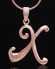 "Rose Gold Plated ""X"" Keepsake Jewelry"