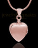 Rose Gold Plated Gentle Heart Urn Pendant