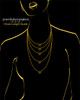 Black Plated Garland Heart Keepsake Jewelry